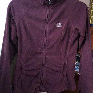 Lightweight Northface zip up eggplant fleece